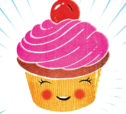 Savage Love, Joe Newton, Illustration, art, cupcake, japanese, cartoon