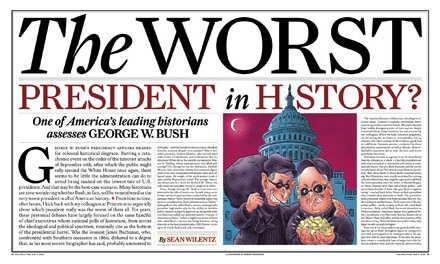 State of Affairs Rolling Stone, joe newton, design, joseph newton, The Worst President in History, George Bush, joe newton, design, joseph newton
